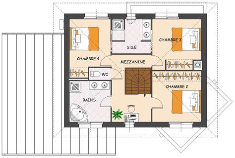 plan chambre avec dressing plan de maison contemporaine 4 chambres avec dressing et