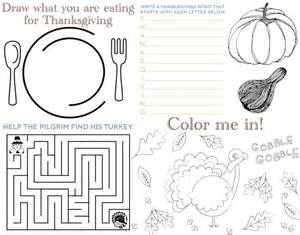 free printable thanksgiving placemats thanksgiving placemat for kids thanksgiving pinterest