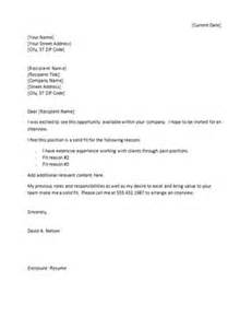 templates for cover letter 1000 ideas about sle resume cover letter on