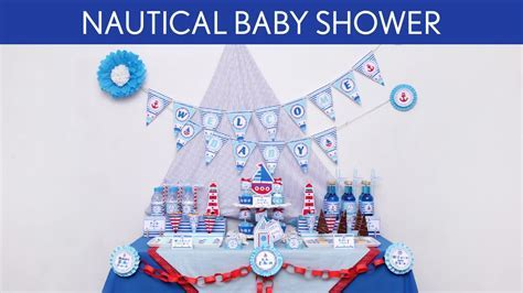 Nautical Baby Shower Party Ideas // Nautical   S5   YouTube