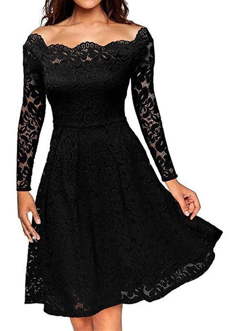 black plain lace pleated hollow  boat neck  shoulder