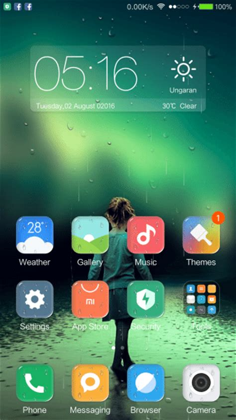 themes download girl ios rainy girl a calming ios theme for xiaomi xiaomi ninja