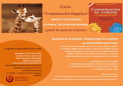 comunicacion no violenta un 987218349x adelante se abre un curso de comunicaci 243 n empatica en granada comunicaci 243 n compasiva