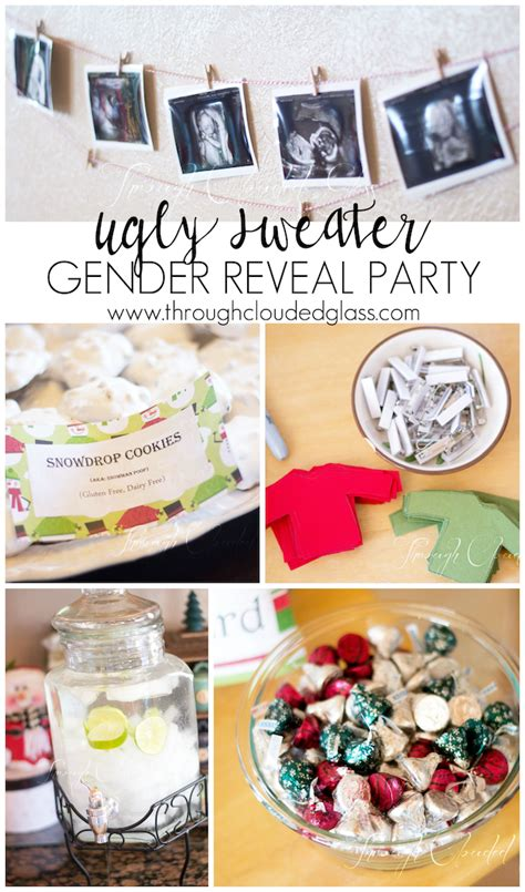 christmasgender reveal gender reveal through clouded glass