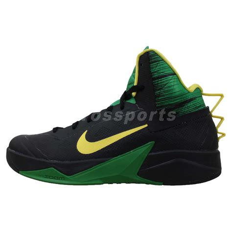 green basketball shoes nike zoom hyperfuse 2013 xdr black green yellow 2014 mens