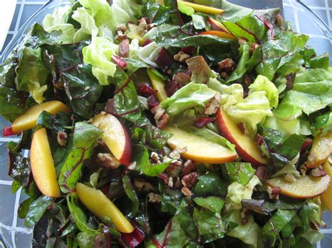 Comfort Reality Swiss Chard Nectarine And Toasted Pecan Salad Spinach Tiger