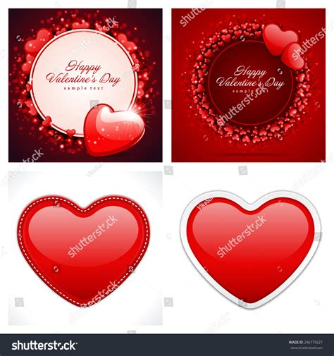 valentines day card design hearts vector stock vector set happy valentines day backgrounds hearts stock vector