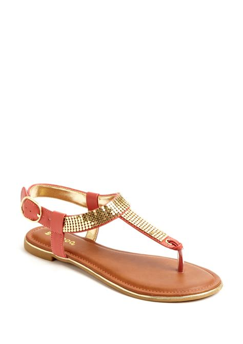 coral sandals coral and gold sandals sandals flats