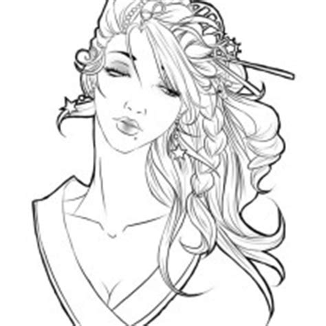 Beautiful Geisha Drawing Www Pixshark Com Images Geisha Coloring Pages