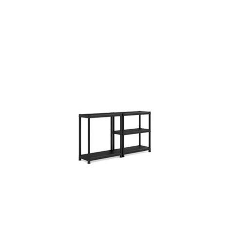 scaffale plastica scaffale plastica cm 90x40x182h 5 piani nero