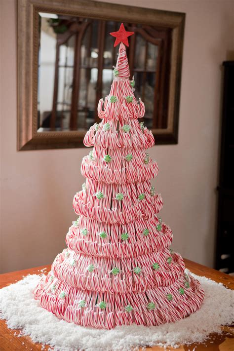 diy project candy cane christmas tree centerpiece