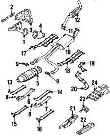2001 Nissan Pathfinder Exhaust System Diagram Nissan Pathfinder Exhaust System Parts