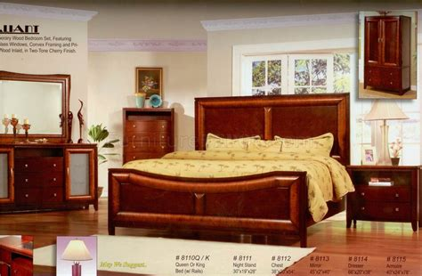 two tone bedroom furniture two tone cherry finish modern bedroom w optional casegoods