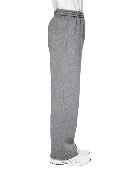 fruit of the loom sweatpants fruit of the loom mens sf74r 7 2oz sofspun open bottom