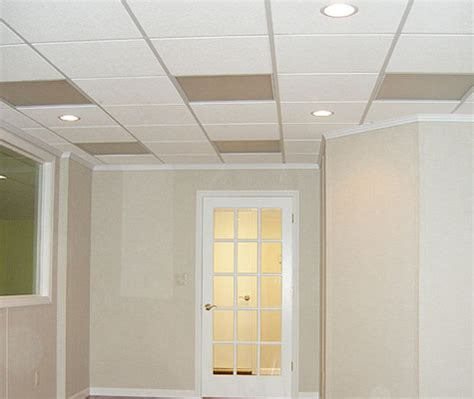 Basement Ceiling In Commerce Troy Oakland Macomb Ceiling Tile Ideas For Basement