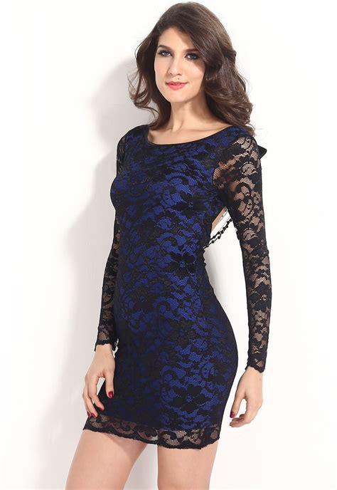imagenes vestido negro con azul vestidos de moda 187 vestidos con encaje azules 4