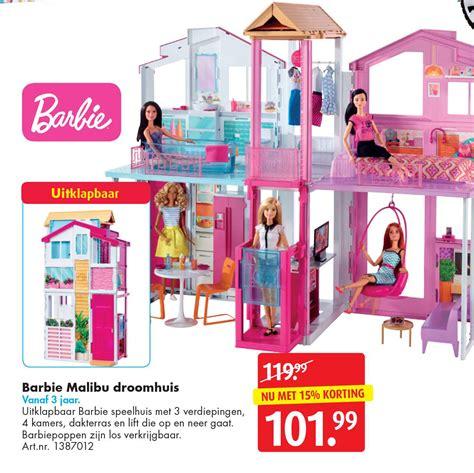 speelgoed bart smit barbie malibu droomhuis aanbieding bij bart smit