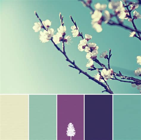 Home Decorating Colour Schemes color palette flower of purple and teal home tree atlas