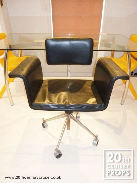 scandinavian leather office chairs scandinavian black leather office swivel chair 20th