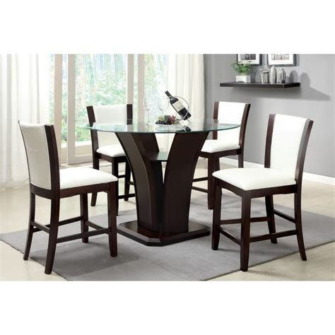 contemporary dining furniture dining table chair bar furniture of america carlise contemporary round counter