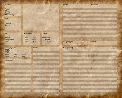 pathfinder templates pathfinder character sheet by stalkeronpaws on deviantart