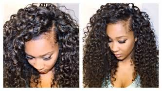 best wayto a weave sown in for hair how to blend your leave out with curly hair extensions