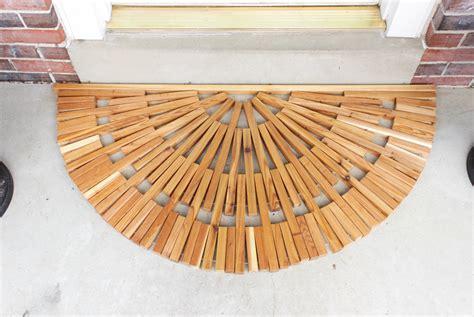 Wooden Door Mat by Diy Wooden Door Mat Shades Of Blue Interiors