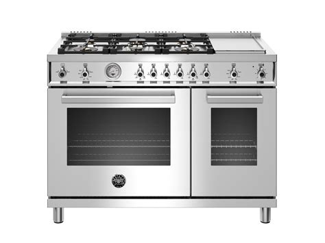 48 inch gas cooktop 48 inch all gas range 6 brass burner and griddle bertazzoni