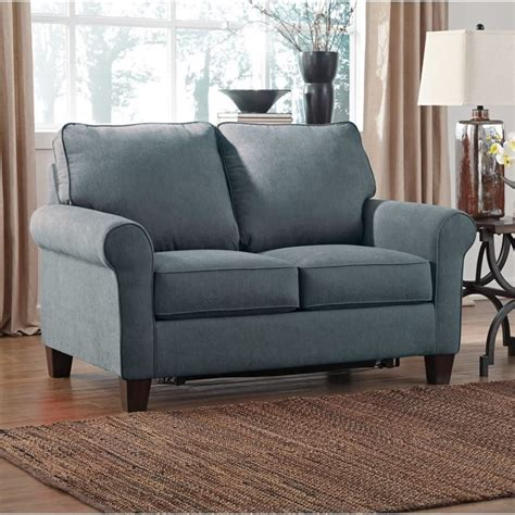 denim sofa sleeper ashley zeth fabric twin size sleeper sofa in denim 2710137