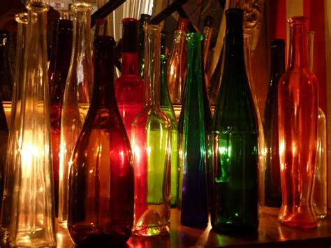 Colorful Bottle Glass free photo bottles colorful glass free image on