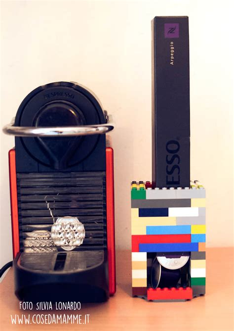 porta cialde nespresso creare un porta capsule con i lego idea regalo festa