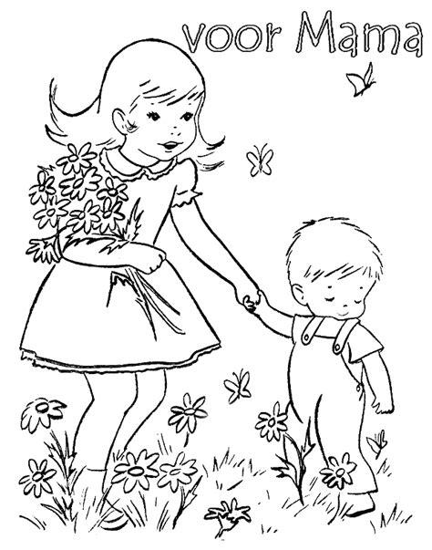 kleurplaat bloem moederdag moederdag kleurplaten bloemen