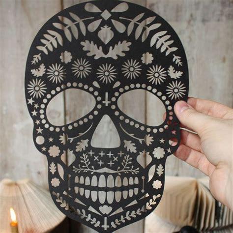 Lasercut Dia De Los Muertos Skull By Mryen On Etsy Halloween Dia De Los Muertos Pinterest Laser Cut Skull Template