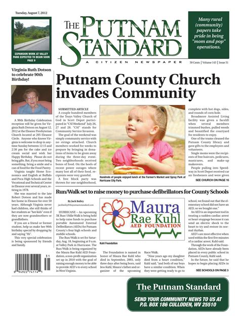 Putnam Pantry Birthday by The Putnam Standard By Pc Newspapers Issuu