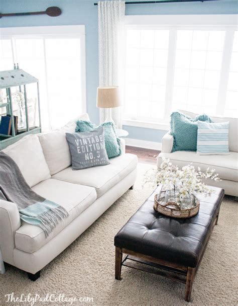 Adding Color To Neutral Living Room by Living Room Decor Updates Aftermath The
