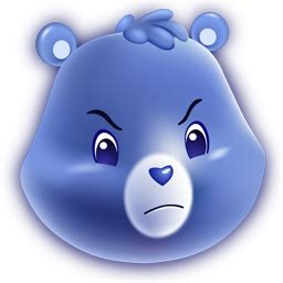 grumpy bear icon  care bears icons iconspedia