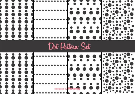 dot pattern system sewing black and white dot pattern vector set download free