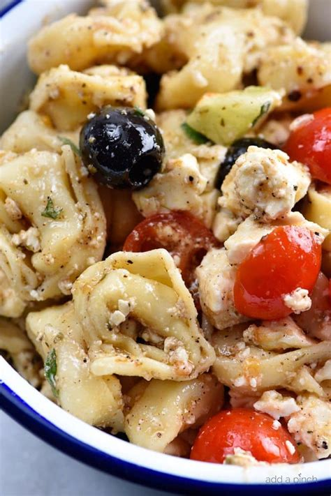 easy pasta salad recipe easy tortellini pasta salad recipe add a pinch