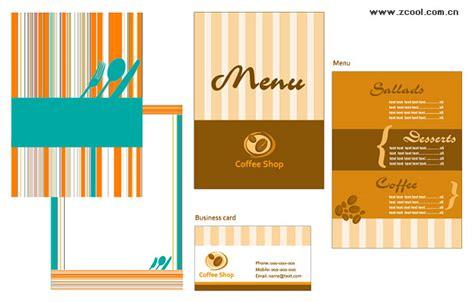 catering menu card template vector material