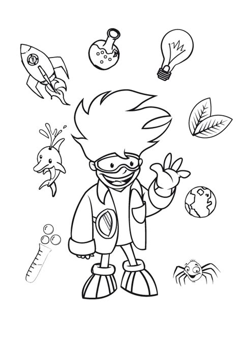 free science lab coloring pages