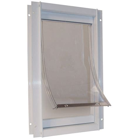Home Depot Doors With Frame by Ideal Pet 10 5 In X 15 In Large Deluxe Aluminum Frame Pet Door Ddxlw The Home Depot