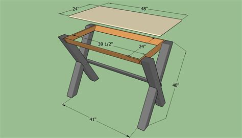 build a simple desk easy wood desk plans woodideas