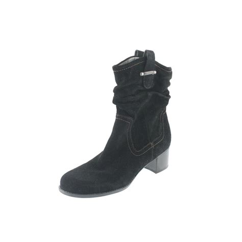 naturalizer new carlyle black suede slouchy pull on ankle