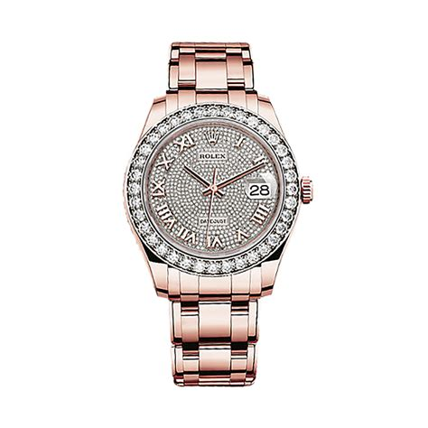 Rolex Ls20 Rosegold rolex pearlmaster 39 86285 gold diamonds 18 ct pink gold paved with 713 diamonds