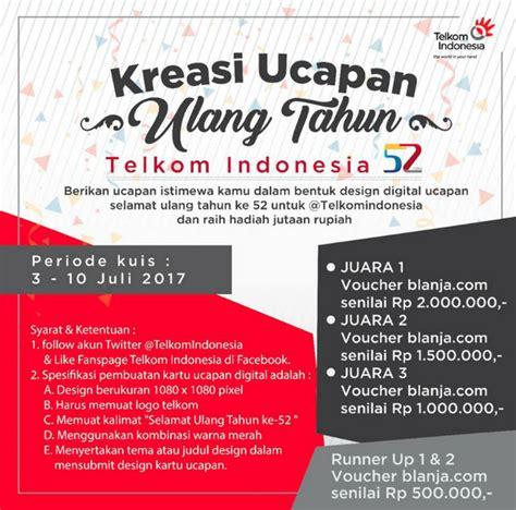 desain kartu ucapan kreatif kreasi ucapan ulang tahun telkom indonesia