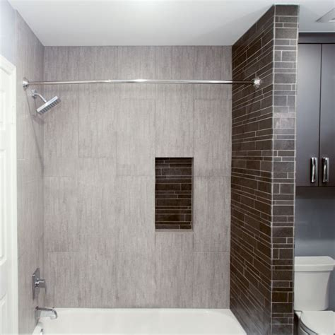 bathroom shower walls the light grey tile we used look in this shower area looks