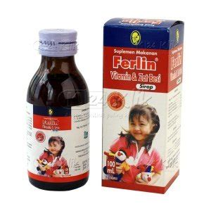 Suplemen Zat Besi Syrup jual beli ferlin sirup 100ml k24klik