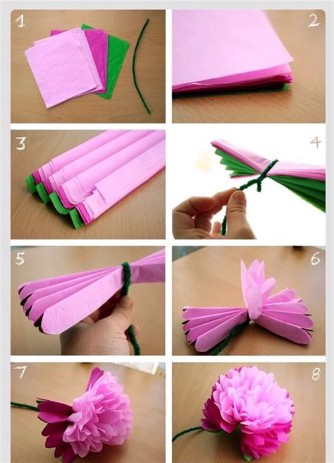 diy tissue paper peony flower musely