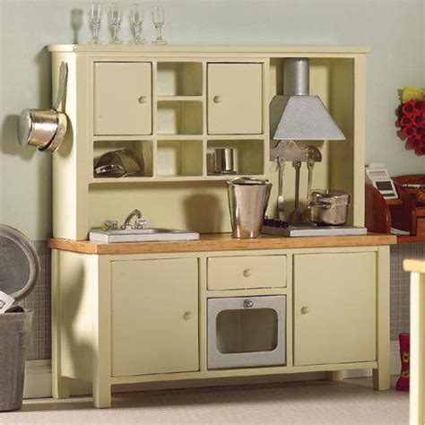 Dolls House Kitchen Furniture by The Dolls House Emporium Cream All In One Kitchen System