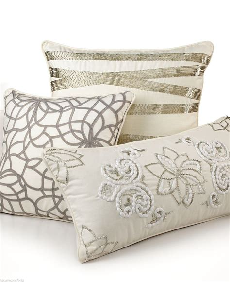 decorative bedding pillows martha stewart collection shimmer 12 quot x 24 quot decorative pillow